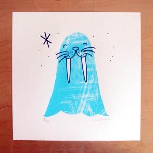 walrus print - ice