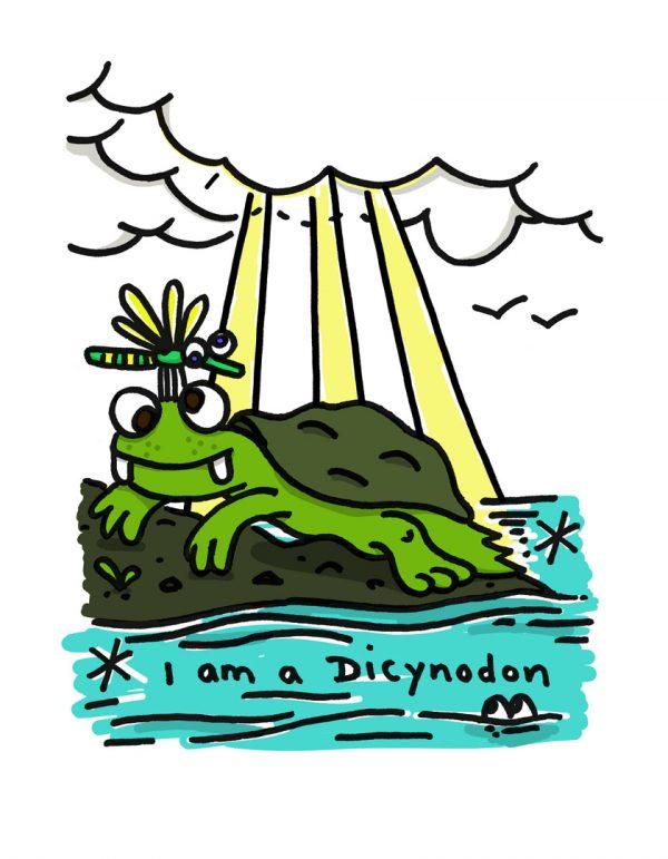 Dicynodon Crystal Palace Park Dinosaur Print